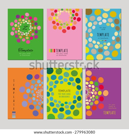 A set of template for card, notebook, album, brochure, booklet, poster or banner. Abstract pattern on a vivid background. - stock vector