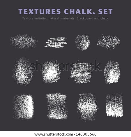 A set of textures. Blackboard and chalk - stock vector