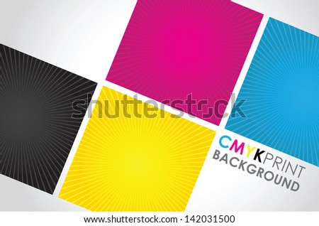 a set of three cmyk spiral boxes