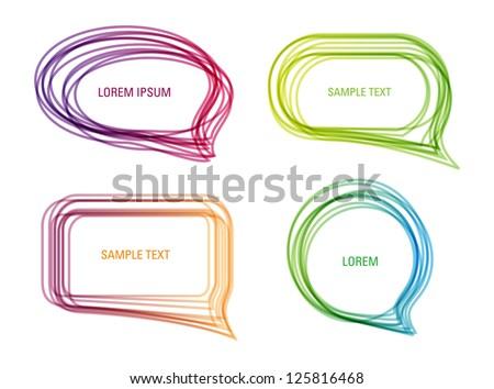 A set of vector colorful speech bubbles - stock vector