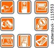 A set of 8 vector icons of commerce objects. Check my portfolio for many more images of this series. - stock vector
