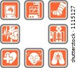 A set of 8 vector icons of hospital objects. - stock photo