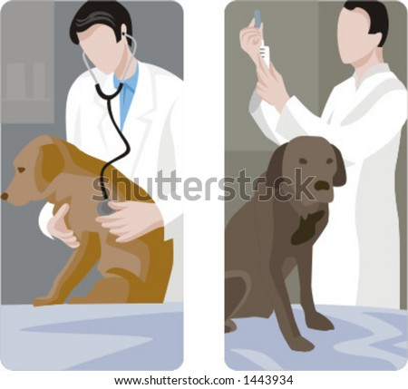 A set of 2 veterinary illustrations. - stock vector