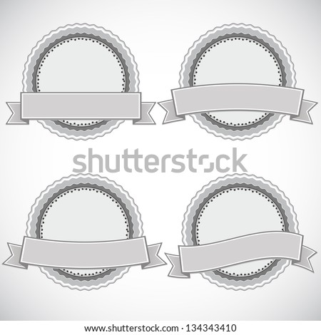 A set of vintage design labels and badges, vector illustration - stock vector