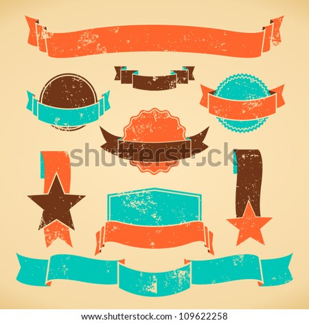 A set of web design elements in vintage style. - stock vector