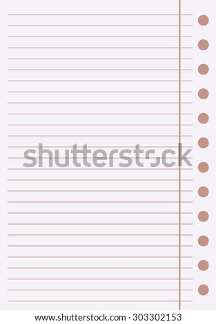 a sheet of paper in a line on a brown background