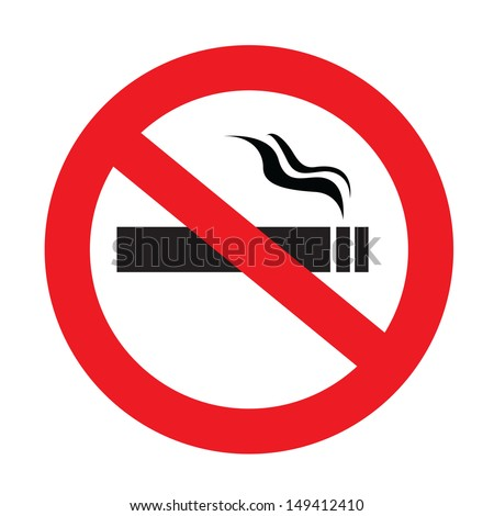 a sign showing no smoking is allowed - stock vector