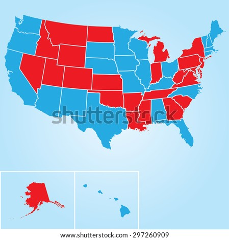 Silhouette Outline Map United States America Stock Vector - Empty map of the united states