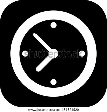 A simple clock icon - stock vector