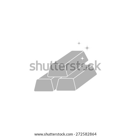 A simple icon of gold bullion. - stock vector
