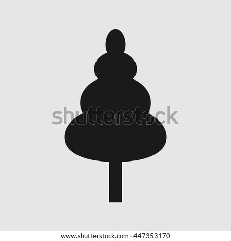 A simple illustration of a tree. Vector illustration. tree icon. tree logo. - stock vector