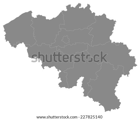 A Simple map of Belgium