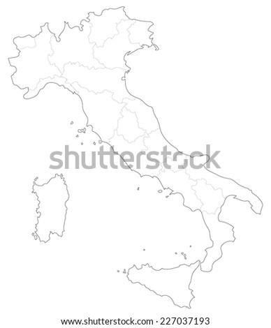 A simple map of Italy