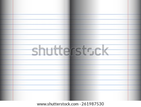 A simple realistic mockup of a striped school notebook - stock vector