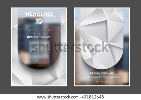A4 size, abstract flat layout geometric elements marketing business corporate design template. eps10 vector - stock vector
