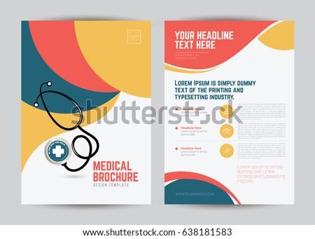 A Size Medical Brochure Flyer Layout Stock Vector - Medical brochure templates