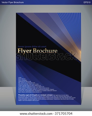 A4 size Vector design for Cover Report Brochure Flyer Poster