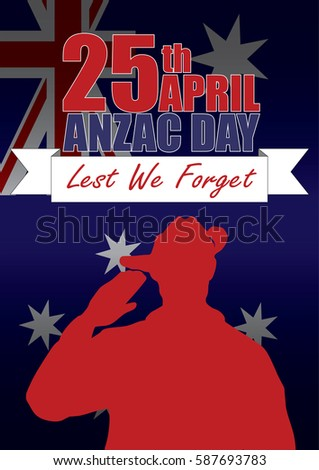 A4 sized ANZAC day poster. Australian New Zealand Army Corp. Commemorating the soldiers on April 25th.