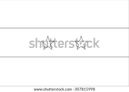A Skeleton Flag Illustration of the country of  Syria - stock vector