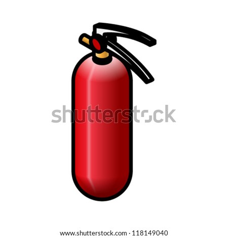 A small red fire extinguisher. - stock vector