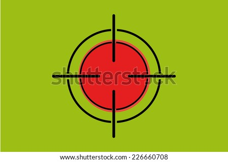 A Sniper Scope on the flag of Bangladesh - stock vector
