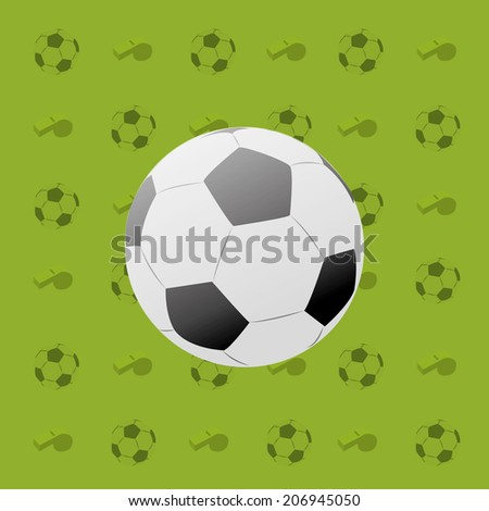 a soccer ball within a green background with some silhouettes - stock vector