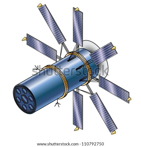 A solar observation satellite/probe. - stock vector