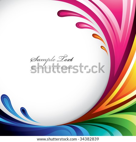 A splash of various colors - Background design for your text. Find more colorful illustrations in my portfolio - stock vector