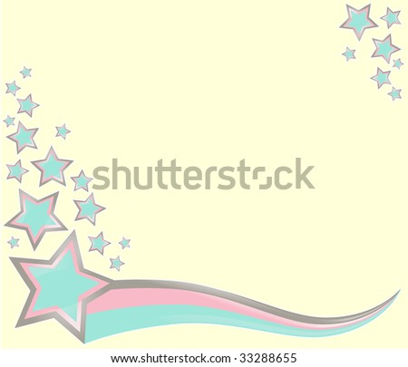 a starry starry banner which is also glossy