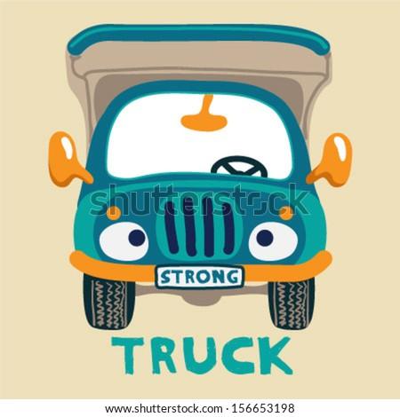 a strong truck - stock vector