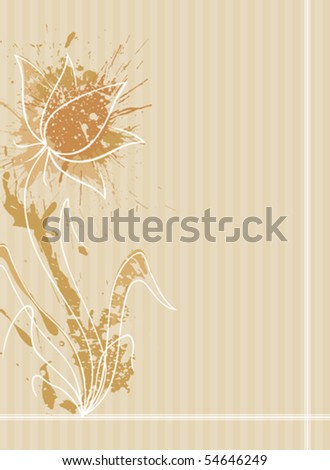 A stylized flower with pattern background