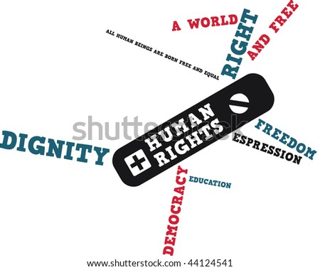 A suisse knife just made with human rights - stock vector