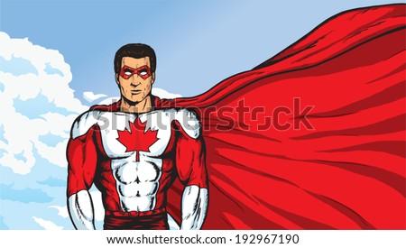 A Super Canadian - stock vector