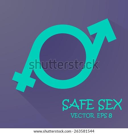 a symbol of masculinity and femininity. Vector eps 10 - stock vector