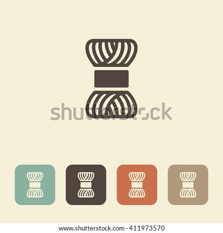A symbol of needlework and knitting. A skein of yarn. - stock vector