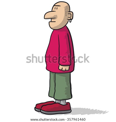 a sympathetic character - stock vector