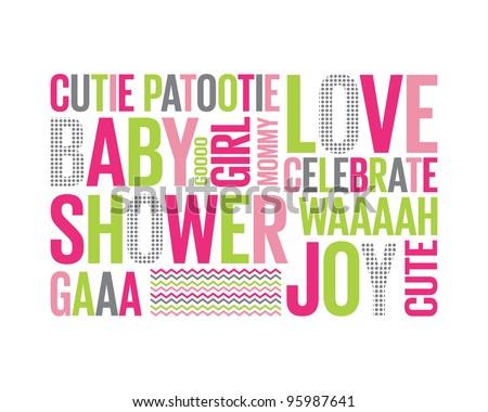Baby shower invitation Stock Photos, Baby shower invitation Stock