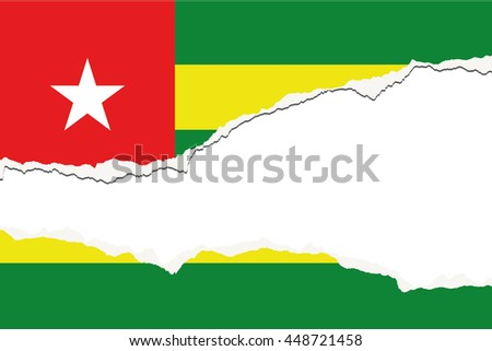 A Torn Flag Illustration of the country of Togo - stock vector