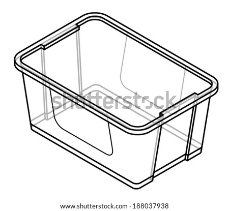 A Transparent Plastic Storage Tub With Lid On.