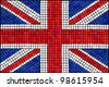 A Union Jack flag made from mosaic tiles. EPS10 vector format. - stock photo