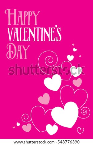 Valentines Day Greeting Card Vector Format Stock Vector 548776390 ...