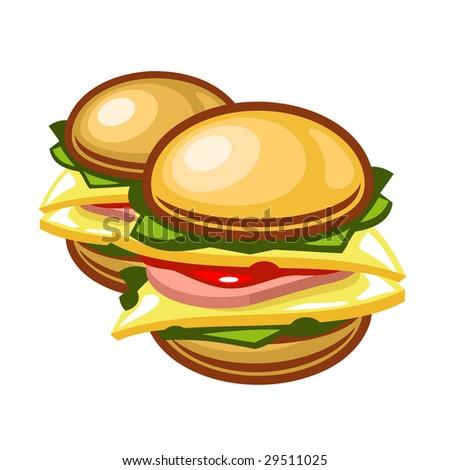 A vector burger - stock vector