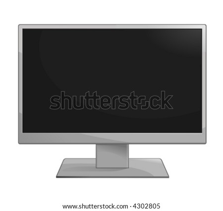 A Vector Drawing of an LCD TV.