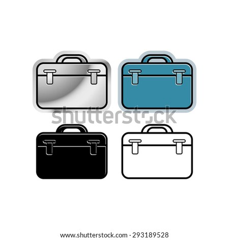 a vector drawing of tool boxes - stock vector