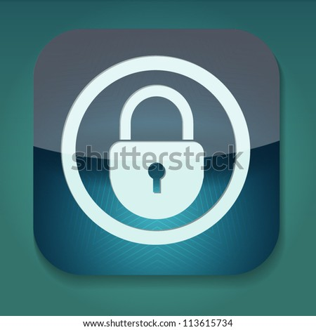a vector icon with lock inside - stock vector