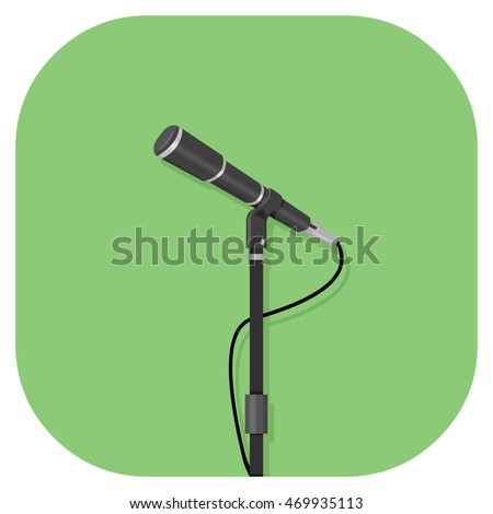 A vector illustration icon of an ancient standing stone of an audio microphone.
