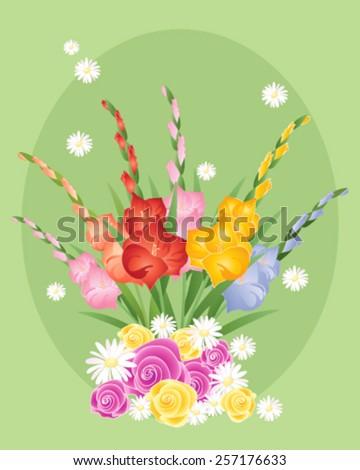 Vector Illustration Eps 10 Format Floral Stock Vector 257176633
