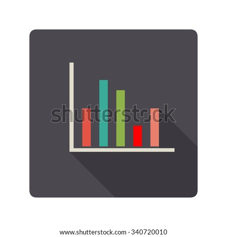 A vector illustration of a Business chart. Bar chart Business Icon illustration. Flat Icon style of Information displayed with a visual graph.  - stock vector