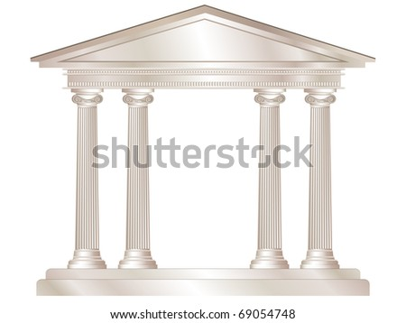 A vector illustration of a classical style white marble temple. EPS10 vector format - stock vector