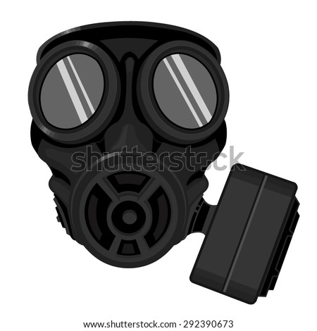 A vector illustration of a gas mask. Gas mask Icon illustration. Protective work wear.